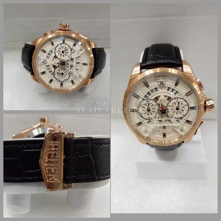 Tag Heuer Carrera Eiffel Tower Edition White Rose Gold Men Watch