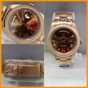 Rolex Day Date Rose Gold Automatic Brown Dial Men Watch 118205 Price In Pakistan