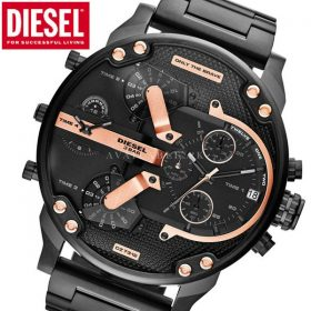 Diesel DZ7314 Mr Daddy 2.0 Black Rose Gold Men Watch Price In Pakistan