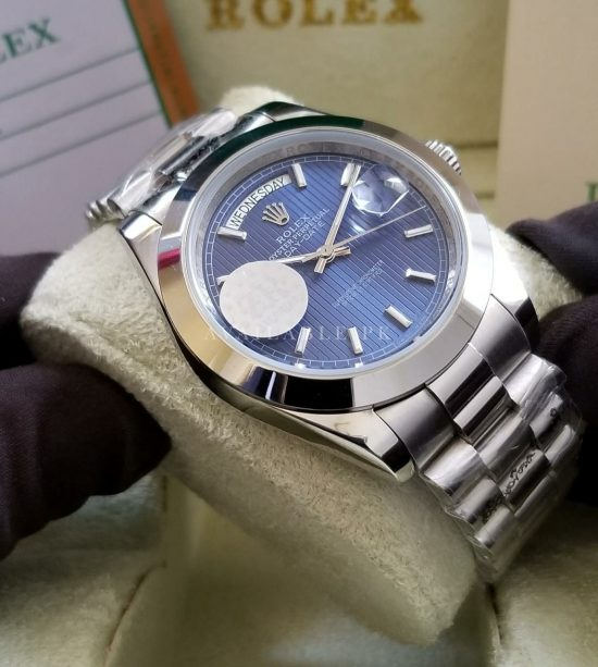 Rolex Oyster Perpetual Day Date Blue Dial His Watch Price In Pakistan