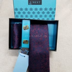 Next Original Three in One Neck Tie Set Purple Color