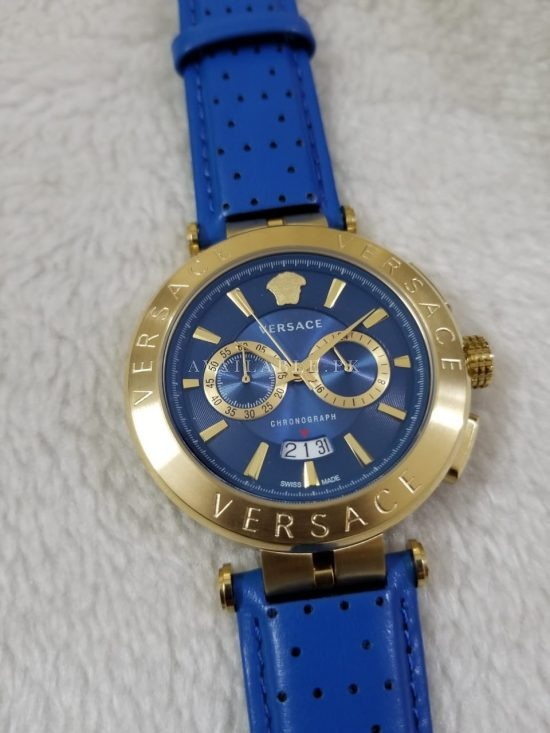 Versace Men's Watches Chronograph Aion Blue Dial & Belt Price in Pakistan