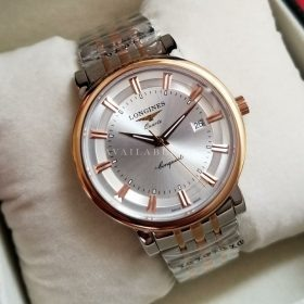 Longines Conquest Two Tone Silver Dial With Date Mens Watch