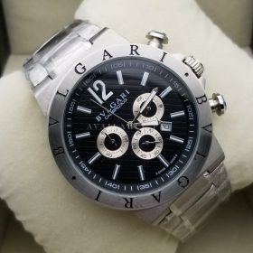 Bvlgari Chronograph Calibr 0303 Black Dial Stainless Men Watch Price in Pakistan