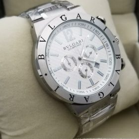 Bvlgari Chronograph Calibr 0303 White Dial Men Watch Price in Pakistan