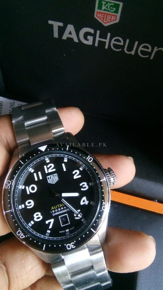 Tag Heuer Autavia Automatic Black Dial Stainless Mens Watch Price In Pakistan