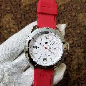 Tommy Hillfiger Satm Red Belt Stainless Her Watch Price In Pakistan