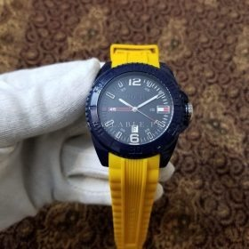 Tommy Hillfiger Sports Yellow Rubber Strap Her Watch Price In Pakistan