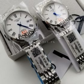 Longines Silver White Couple Watch Price In Pakistan