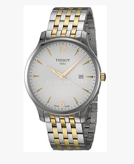 Tissot T-Classic Tradition Two Tone Mens Watch T0636102203700