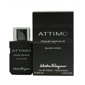 Salvatore Ferragamo Attimo Black Musk Eau de Toilette For Men 100ml
