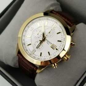 Tissot T055.627 Dim Gold Chronograph Date Mens Watch