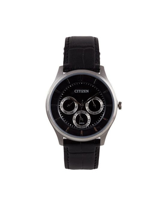 Citizen AG8350-03E - Stainless Steel & Leather Analog Watch For Men - Black Price In Pakistan