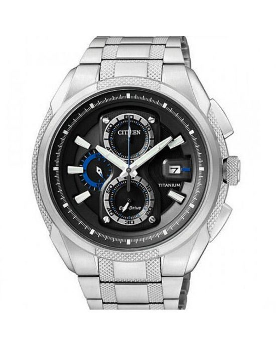 Citizen Titanium Men Chronograph Watch CA0201-51E - Silver Price In Pakistan