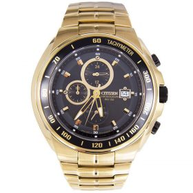 Citizen Men's Golden Stainless Steel Chronograph Watch AN4012-51E Price In Pakistan