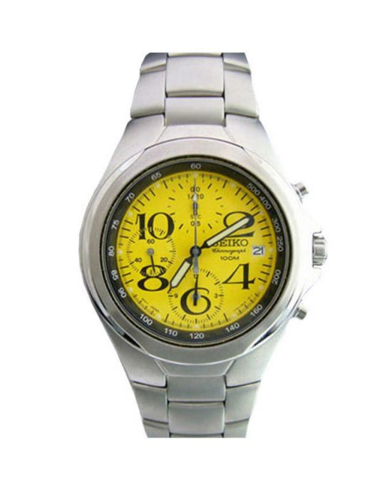 Seiko Yellow Stainless Steel Watch For Men - SND337P1 Price In Pakistan