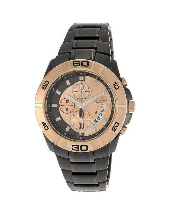 Citizen Men Black Stainless Steel Chronograph Watch AN3418-52P Price In Pakistan