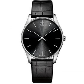 Calvin Klein K4D211C1 - Classic Watch for Men - Black