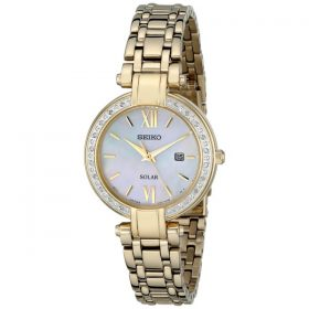 Seiko Women's SUT182 Analog Display Japanese Quartz Gold Watch