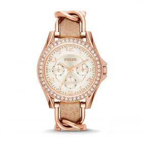 Fossil Women's ES3466 Riley Rose Gold-Tone Stainless Steel And Leather Watch Price In Pakistan