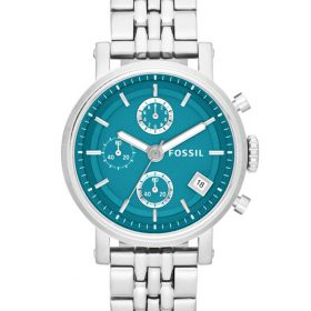 Fossil Women's Original Boyfriend ES3571 Blue Stainless-Steel Quartz Watch Price In Pakistan