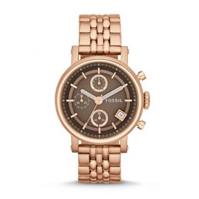 Fossil Women's ES3494 Original Boyfriend Chronograph Rose Gold Tone Watch Price In Pakistan
