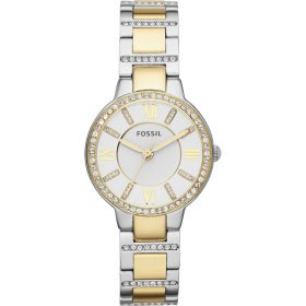 Fossil Women's ES3503 Virginia Crystal Accented Two Tone Stainless Steel Watch Price In Pakistan