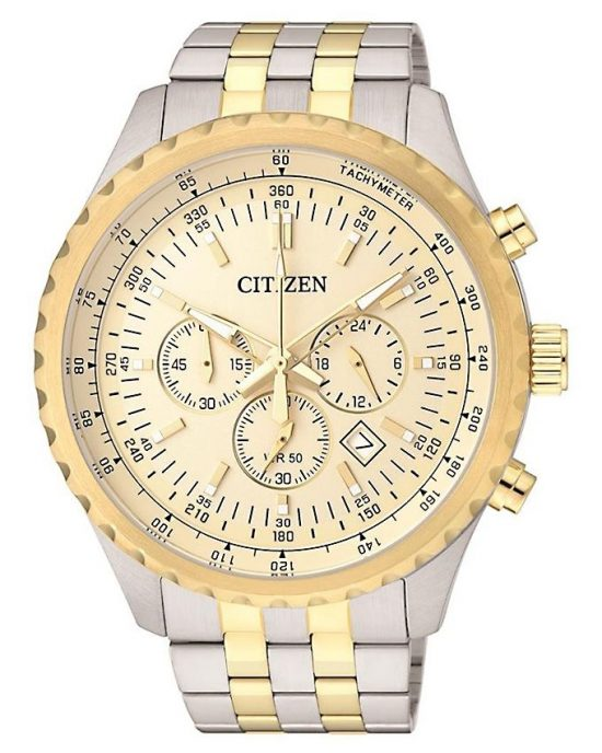 Citizen Gold Stainless Steel Analog Quartz Watch For Men - AN8069-52P Price In Pakistan