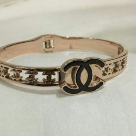 Chanel Golden Bold Logo Ring For Women