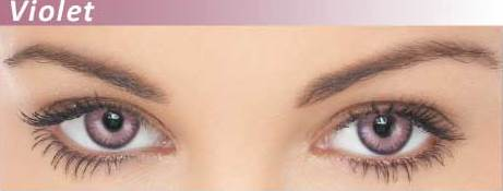 Dazzler Eye's Party Wear Contact Lenses Violet