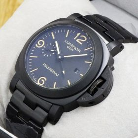 Luminor Panerai Black Body Date Display Men's Watch