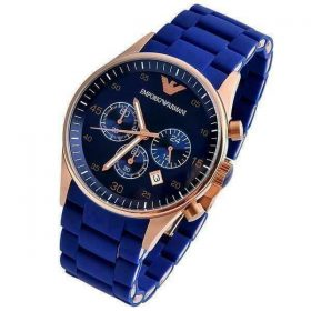 Emporio Armani Chronograph Blue Dial Chain Men's Watch