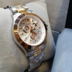 Longines Chronograph Silver Golden Stainless Men's Watch