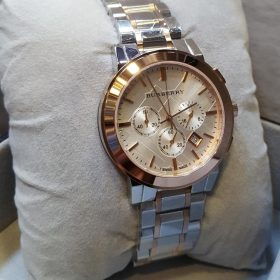 Burberry Chronograph Golden Silver With Date Men's Watch