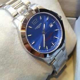 Longines Blue Dial Stainless Steel Date Display Men's Watch