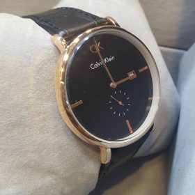 Calvin Klein Black Leather Belt Black Dial Men's Watch