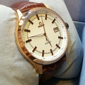 Omega Seamaster Copper Body Brown Belt Men's Watch