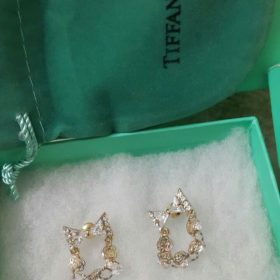 Tiffany & Co Link Chain Shaped Golden Earrings Set Price In Pakistan
