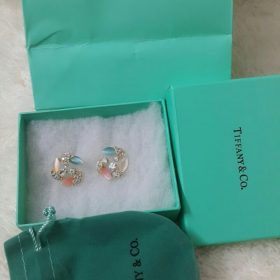 Tiffany & Co Trinity Shaped Multi Stone With Diamonds Earring Set Price In Pakistan
