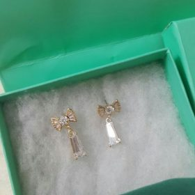 Tiffany & Co Bow Tie Shaped Silver Crystal Drop Earring Set Price In Pakistan