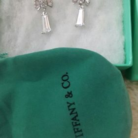 Tiffany & Co Bow Tie Shaped Crystal Drop Earring Set Price In Pakistan