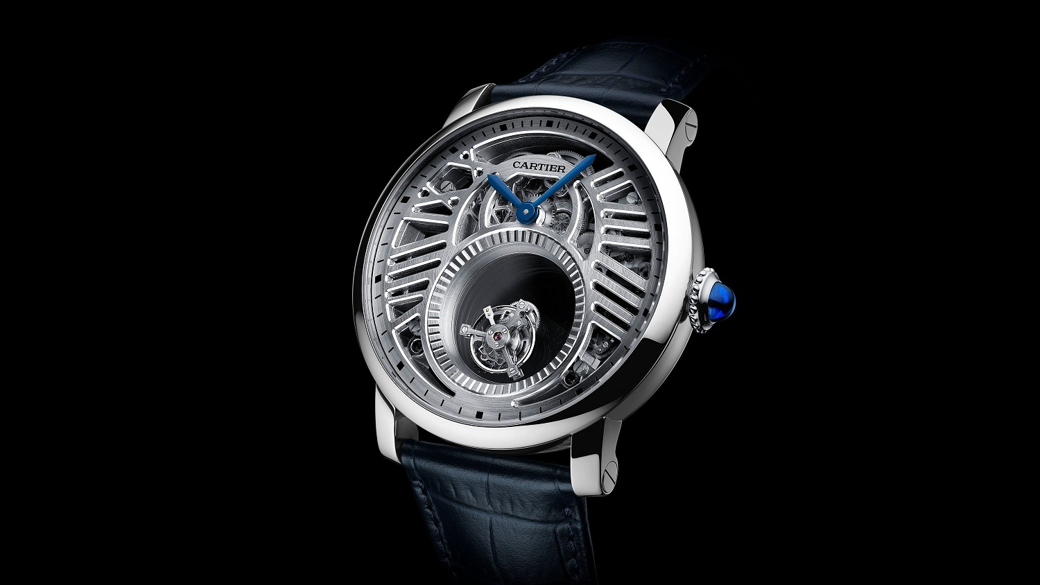 The Cartier Rotonde de Cartier Skeleton Extraordinary Double Tourbillon