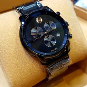 Movado Masino Chronograph Black Dial Watch For Men Price In Pakistan