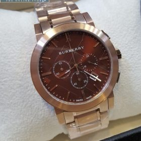 Burberry Chronograph Copper With Maroon Dial Watch