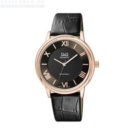 Q&Q Black Leather Men's Watch Q896J108Y Price In Pakistan