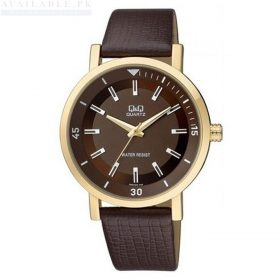 Q&Q Brown Leather Analog Watch Q892J102Y Price In Pakistan