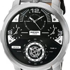Diesel DZ7379 'Machinus' Quartz Stainless Steel and Leather Automatic Mens Watch