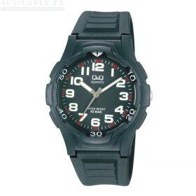 Q&Q VP84J002Y Resin Band Black Men's Watch Price In Pakistan