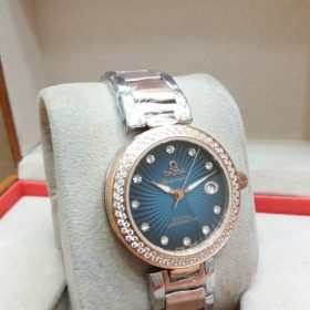 Omega Ladymatic CO-AXIAL LightGold Teal Dial Watch For Women Price In Pakistan