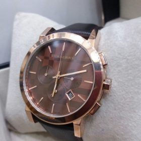Burberry Brown Dial Chronograph With Leather Belt Men's Watch Price In Pakistan